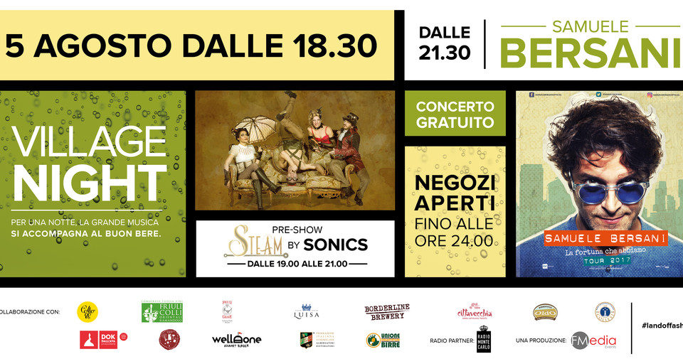 Village Night al Palmanova Outlet Village